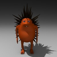 hedgehog cartoon 3d 3ds