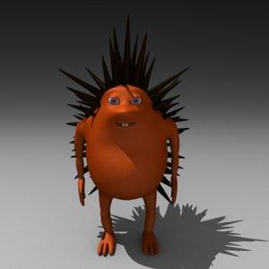 hedgehog cartoon 3d 3ds