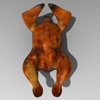 baked chicken 3d model