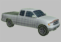 Low Poly Car: Toyota Trundra 2005