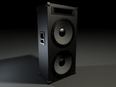 pa speaker 3d max