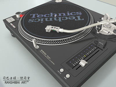 turntable sl1210m5ge 3d model