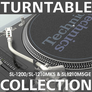 turntable dj 3d model
