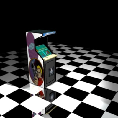 arcade cabinet rolling thunder 3d max