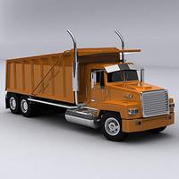 3d max semi trailer truck
