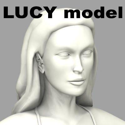 lucy hot woman bikiny 3d model