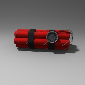 dynamite bomb 3d model