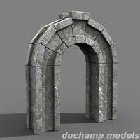 3ds max stone arch