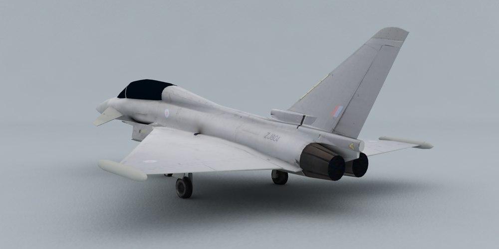 3d model eurofighter t1