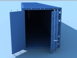 3d model shipping container