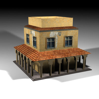 orient style house 3ds
