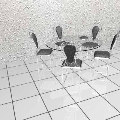3d dinning table model