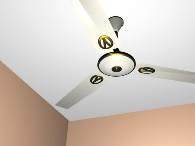 fancy ceiling fan 3d model