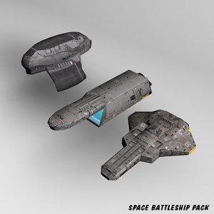 3d space battleships model