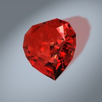 heart cut gem c4d