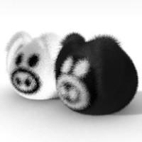 3d pig toy model