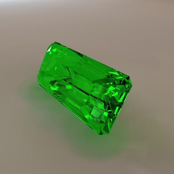 maya emerald cut gemstone