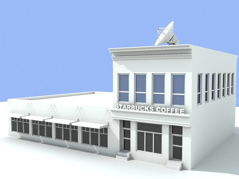 starbucks cafe 3d model