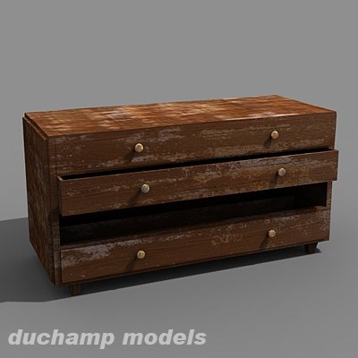 old chest drawers 3d max