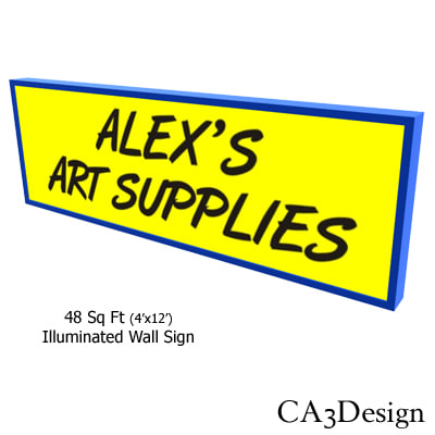 3ds illuminated wall sign
