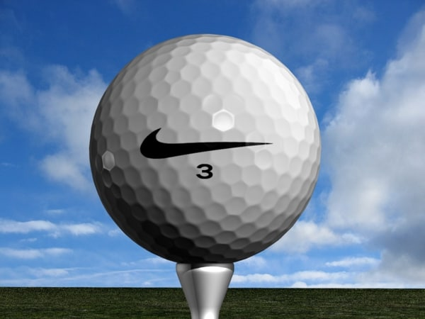 3d golf ball model