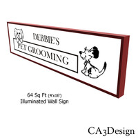 4ftx16ft Illum Wall Sign