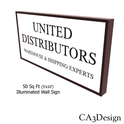 wall sign 3d 3ds