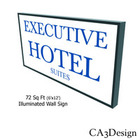 3d model illuminated wall sign