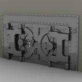 set vault doors 3d model