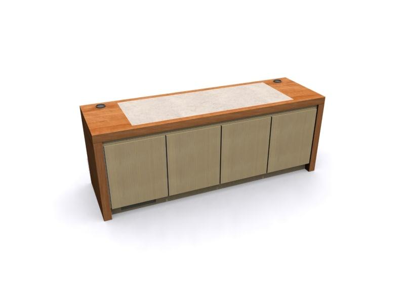 3d credenza storage unit