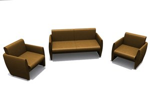 3dsmax boss boater armchair sofa