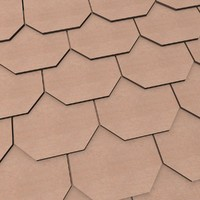 3d wooden roofing tile