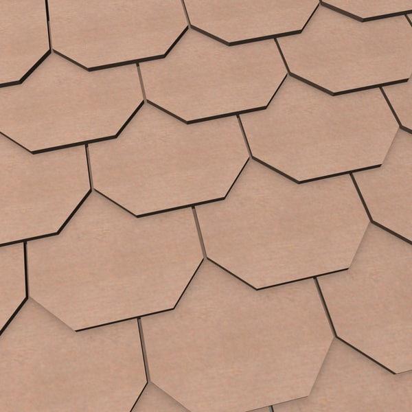 3d wooden roofing tile