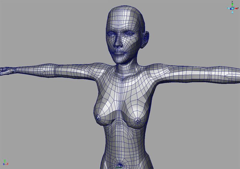 human female 3d model