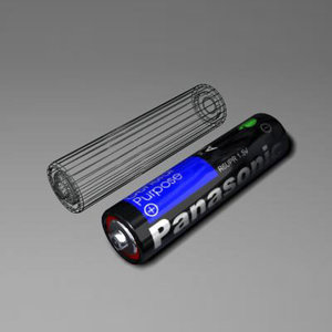 3d max battery aa