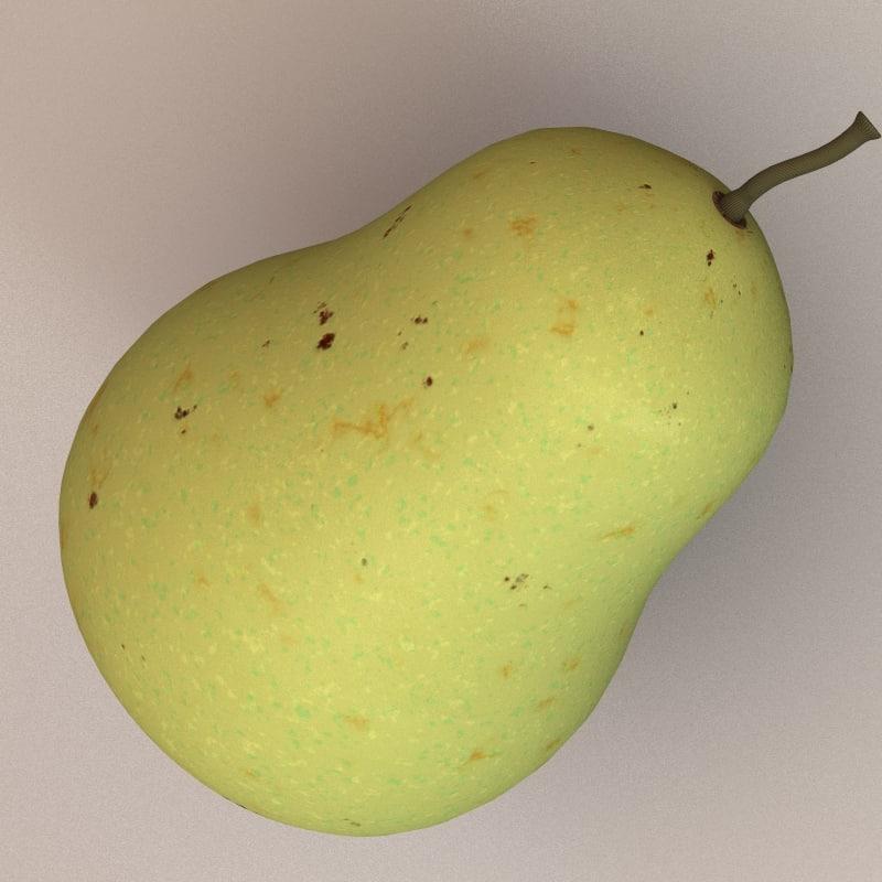 fruit pear 3d model