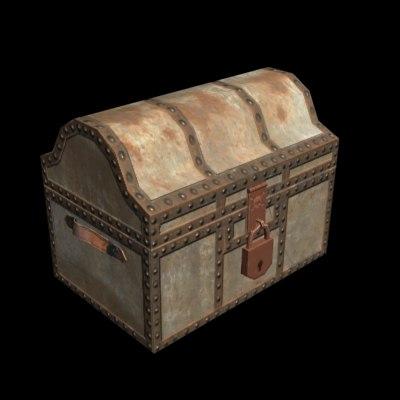 3d model pirate chest
