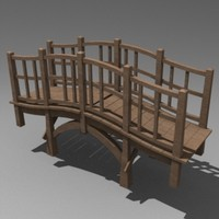 japanese style bridge 3d model