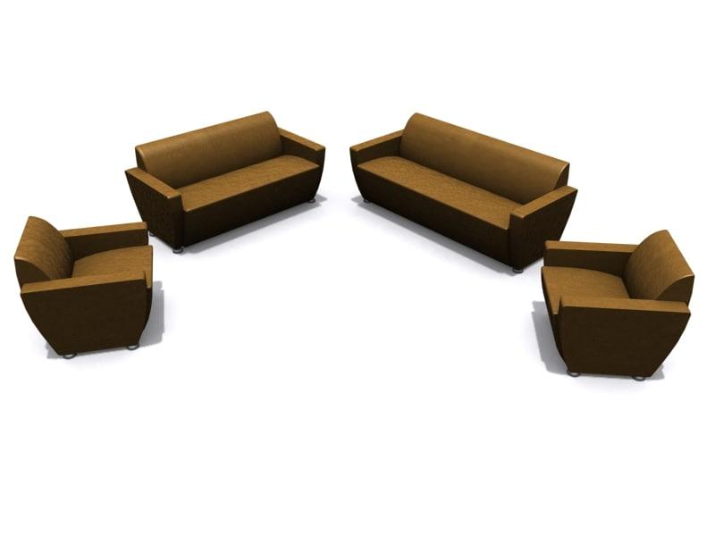 3d model davison highley mulberry armchair sofa
