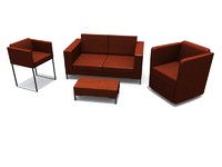 hb furniture suite sofa 3d 3ds