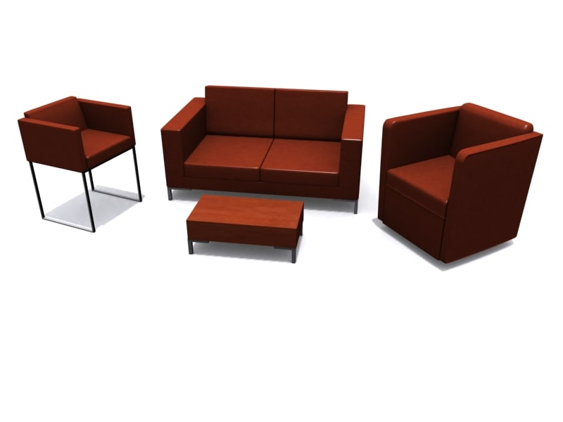 hb furniture suite sofa 3d 3ds
