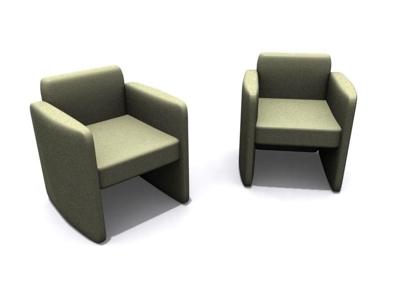 3ds max vasari armchair