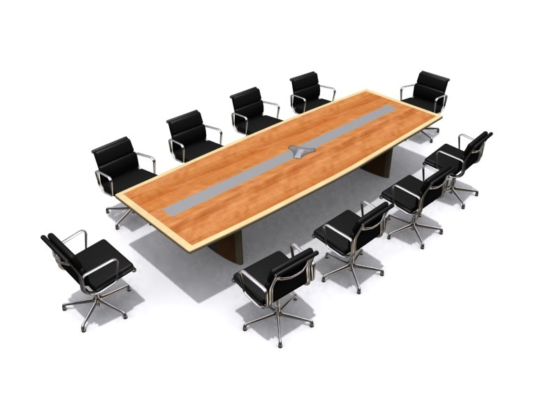boardroom table 3d max