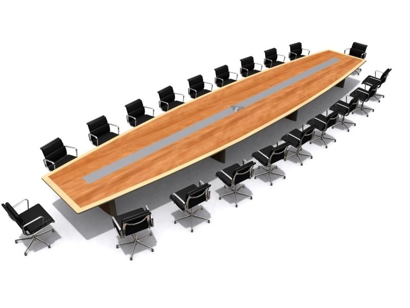 boardroom table 3d model