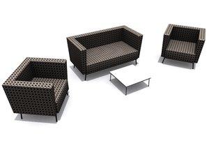 3d orangebox dee armchair sofa