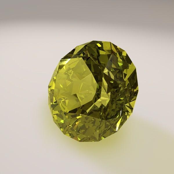 cut star gemstone 3ds