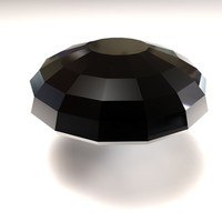 3d parachute cut gemstone