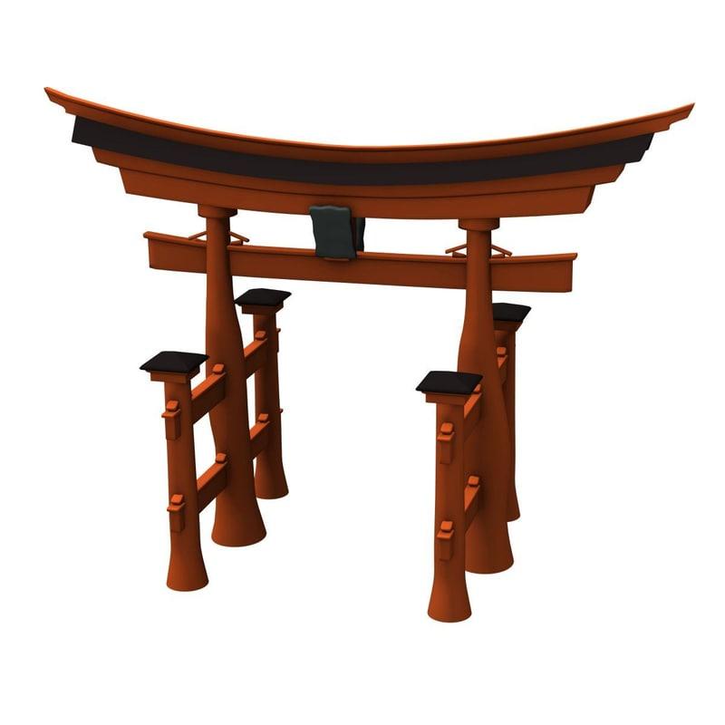3ds max torii gate