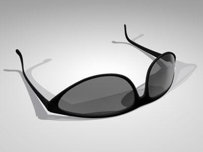 3ds max sunglasses glasses