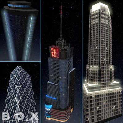 max 10 new york skyscraper night